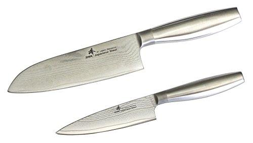 Cheap ZHEN Japanese VG-10 Damascus Steel Santoku Knife Set