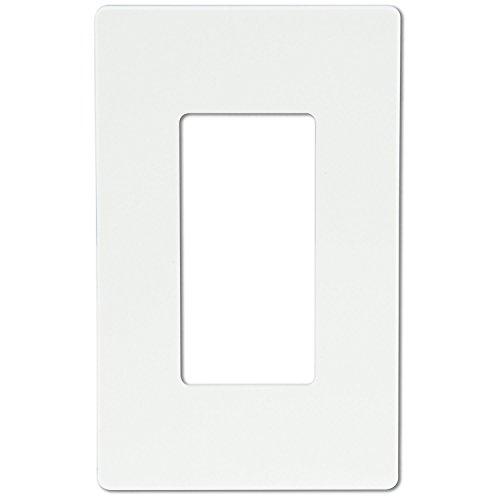 Enerlites 1-Gang Screwless Wall Plate, Unbreakable, Child Safe - White, Light Almond, Black (1-Gang, White)
