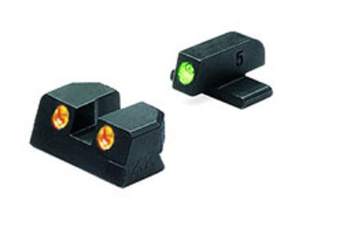 Meprolight Sig Sauer Tru-Dot Night Sight .40 & .45 ACP fixed set. Orange rear/Green front by Meprolight