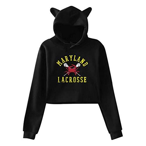 Maryland Crab Lacrosse,Long Sleeve Sweatshirts Hoody,Womens Sexy Stylish Hoodie Sweater Girls Cute Hoodies