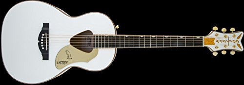 Gretsch Cutaway Guitar - Gretsch Guitars G5021WPE Rancher Penguin Parlor Acoustic/Electric White