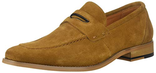 (STACY ADAMS Men's Colfax Moc-Toe Slip-On Penny Loafer tan, 9 M US)