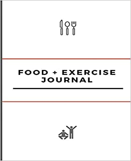 food and exercise journal white cover design color descriptor 7 5