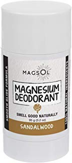 Sandalwood Magnesium Deodorant - Aluminum Free, Baking Soda Free, Alcohol Free, Cruelty Free, Sensitive Skin, All Natural, For Women Men Boys Girls Kids - 3.2 oz (Lasts over 4 months) (Best Rated Natural Deodorant)