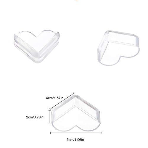 Alian Corner Protectors Heart Type 8-Pack, Baby Necessities of Baby Protector,Best Baby Proof Corner Guards | Stop Child Head Injuries | Tables, Furniture & Sharp Corners by Alian (Image #6)