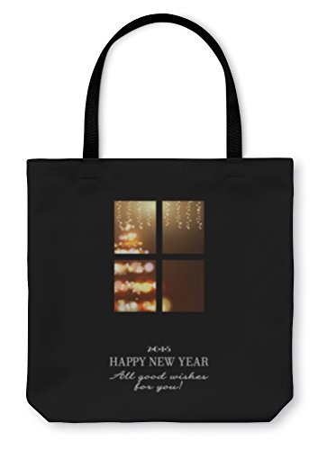 Gear New Shoulder Tote Hand Bag, New Years Invitation, 18x18, (Frame Printable Invitations)