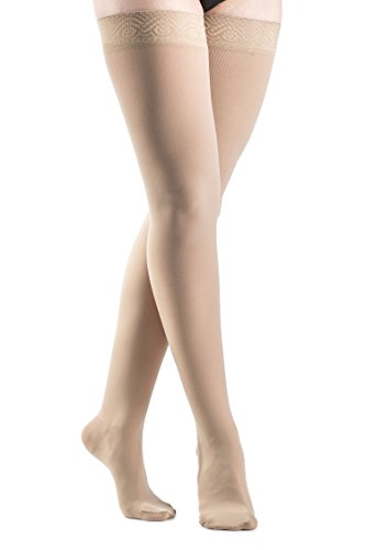 SIGVARIS Women's SELECT COMFORT 860 Closed-Toe Thigh-High Medical Hose 30-40mmHg