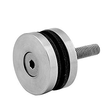 Punkthalter Glashalter Ø25 mm Befestigung an der Rohr Ø16mm V2A Edelstahl