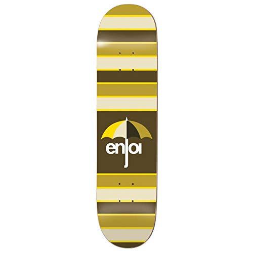 Enjoi Stripes 8.25 Inch Skateboard Deck 8.25 inch Brown