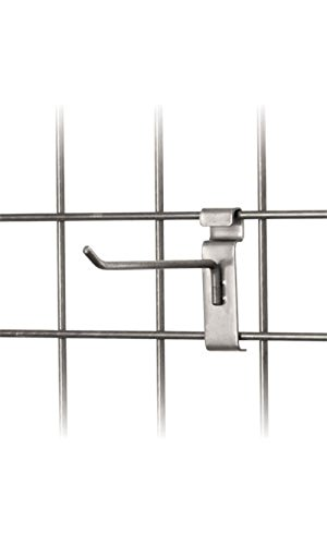 Set of 50 New Retails 6 inch Raw Steel Grid Wall Peg Hook