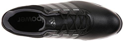 Adidas Mens Adipower Tr Golf Shoe Core Nero / Ferro Metallizzato / Bianco