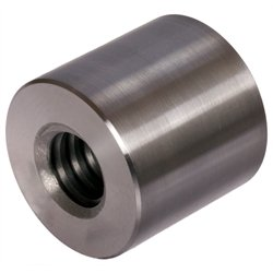 Round trapezoidal leadscrew nut made of steel, Tr.16x8 P4 double start right length=24mm, outer diameter =36mm by Maedler