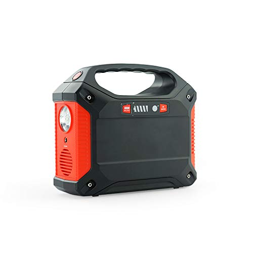 Portable Generator Power Station,155Wh/42000mAh Rechargeable Lithium Battery ,Outdoor Camping UPS Power Source Charged by Solar Panel/Wall Outlet/Car with 110V AC,3 DC,3 USB Port (Black red) by mindbreaker