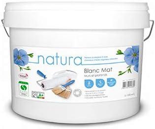 Peinture Natura Blanc Mat Mur Et Plafond Monocouche Naturelle écologique Et Sans Odeur 5l 65m 5l Mat