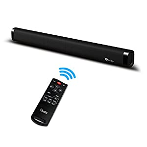 Top Bass Sound bar, Elecder Bluetooth Soundbar for TV, 60 Watt 2.0 Channel With Remote Control, Wall Mountable, Support Optical/AUX/RCA Cable