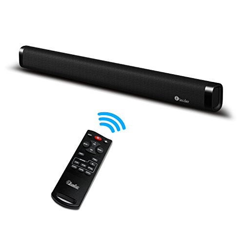 Sound bar, Elecder Bluetooth Soundbar for TV, 60 Watt 2.0 Channel With Remote Control, Wall Mountable, Support Optical/AUX/RCA Cable by ELECDER