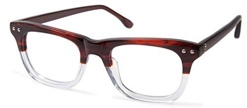 Cynthia RowleyNo. 62 Brown Fade Square Plastic - Eyewear Cynthia
