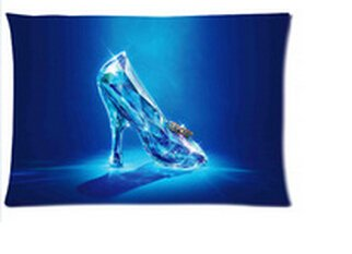 Custom Cinderella Lost Shoe Printed for 20*30 Inches Pillow Case Cover Cool Design Pillowcases Two Sides Cinderellas Lost Shoe