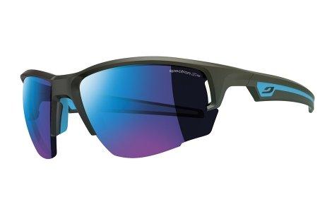 Julbo Venturi Performance Sunglasses, Matte Black/Blue, Spectron 3+ Mlayer Blue Lens, - 3d Effect Sunglasses