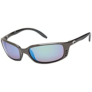 Costa del Mar Men's Brine Polarized Iridium Oval Sunglasses, Gunmetal, 58.8 mm