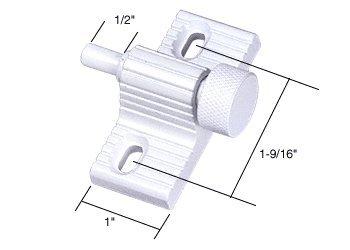 C.R. LAURENCE S4354 CRL White Twist-In Door Lock