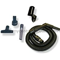 Compact Central Vacuum Garage Cleaning Kit with Stretch Hose