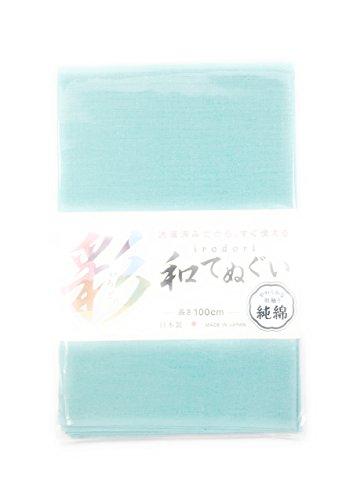 救出実質的遵守する<日本製の技> 純綿100% いろどり和手ぬぐい 洗濯済み 即 頭に巻ける 無地 単色 100cm #1914