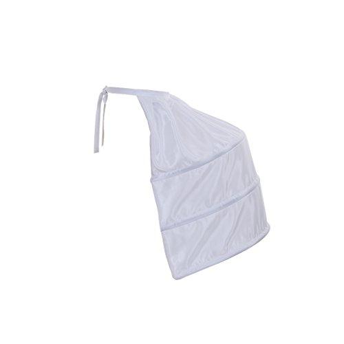 Crinoline Victorian (DUNHAO COS Women's White Crinoline Pannier Underskirt Victorian Dress (One Side))