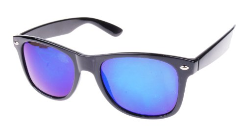 's Fashion Celebrity Designer Mirrored Sunglasses Shades (Blue Lens) ()