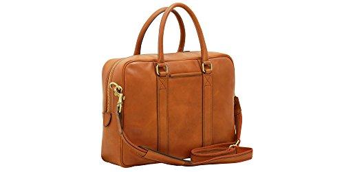 Anglers Briefcase Bag (Handmade Italian Soft Calfskin Leather Briefcase)