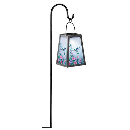 (Collections Etc Hummingbird Lantern with Shepard's Hook, Hummingbird)