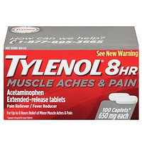 - TYLENOL 8 Hour Muscle Aches & Pain Caplets