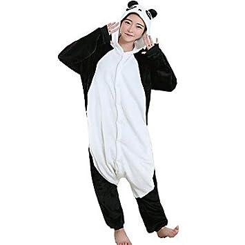 b6dd286ba8 Pijamas Oso Panda Leotardo Pijama Mono Festival Celebración Ropa de Noche  de los Animales Halloween Negro Estampado Animal