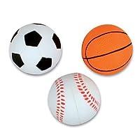 "1 Dozen 2.5"" Rubber Sport Bounce Balls - Includes Soccer Ball, Basketball and Baseball Bounce Balls - Great for Party Favors, Awards, Ball Games, Stocking Stuffers - Bulk 1 Dozen Balls"