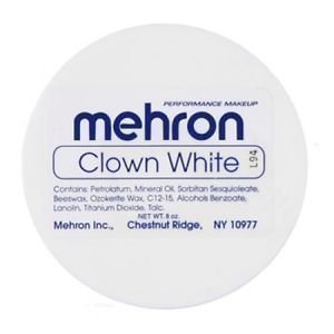 Mehron Clown White (7 Ounce) Professional Makeup by Mehron