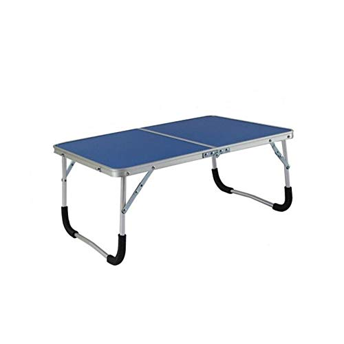 QIDI Folding Table Laptop for Bed Sofa Study Breakfast Drawing Bedroom Home Office Picnic (Color : Blue)