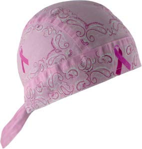 (FLYDANNA;,100% COTTON, BREAST CANCER PINK RIBBON PAISLEY, Manufacturer: ZANheadgear, Manufacturer Part Number: ZBC05-AD, Stock Photo - Actual parts may vary.)