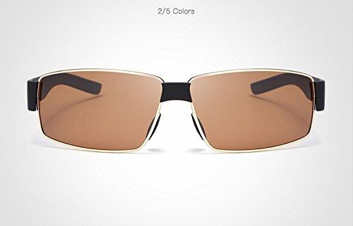 Color de Gafas de de Sol Gafas Ciclismo Sol Gafas Golden Masculino de Brown polarizadas de Gafas conducción de Gafas oculos Sol MY los Hombres Ix0w1qpIn
