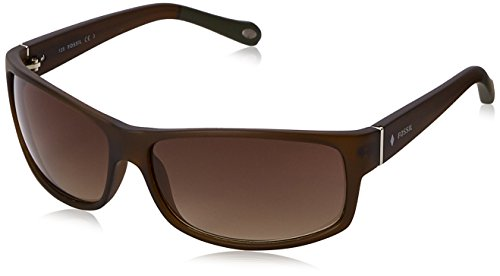 Fossil FOS3036S Rectangular Sunglasses, Brown & Brown Gradient, 65 - Fossil Sunglasses Womens