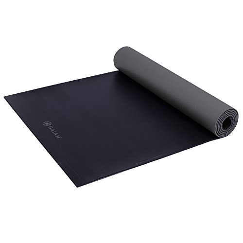 Gaiam Athletic Yoga Series duraMAT Xtra-Large Mat, Gray, 5mm