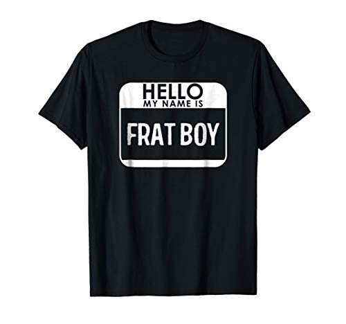 Frat Boy Costume Shirt Funny Easy Halloween Outfit -
