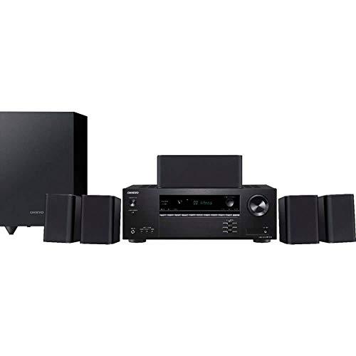 Onkyo HT-S3910 5.1-Ch Home Theater Receiver & Speaker Package (2019 Model) (Home Theater System Dolby)
