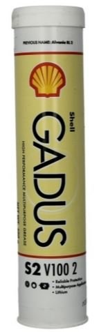 SHELL GADUS S2 V100 2 HIGH PERFORMANCE HEAVY DUTY GREASE 400GM