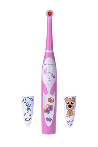 Emerson Kids Battery Powered Musical Timer Toothbrush Replaceable Brush Head, ER109004, - Kids Musical Toothbrush