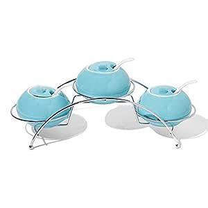 Opalina Canisters Set, 10 Pcs - Turquoise