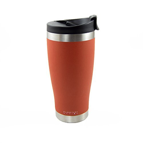 Adventure Tumbler - 16 fl.oz. Stainless Steel Coffee & Tea Tumbler with Leak Proof Lid - Stays Hot For Hours - Not-slip Texture Red Rock