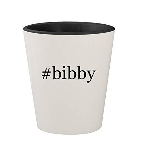 #bibby - Ceramic Hashtag White Outer & Black Inner 1.5oz Shot Glass