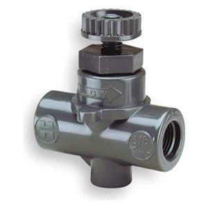 "Hayward PVC Needle Valve, Globe Body, FPM Seal, 3/8"" Threaded from Hayward"
