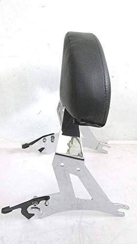 Y53 BLACK Black Detachable Backrest Back Rest Sissy Bar 4 Victory Cross Country Road