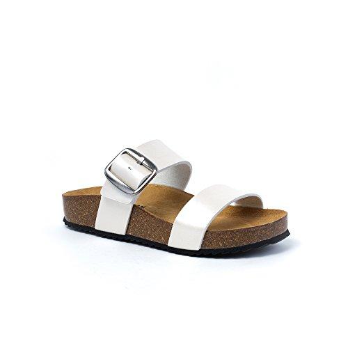 Donna Sabot Sabot Donna Plakton Plakton sandali Bianco sandali ROwzxR